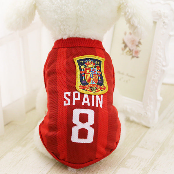 2018 Russia World Cup Pet Jersey - Mr Fluffy Singapore Online Pet Store