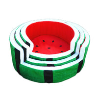 Watermelon Round Pet Cushion Bed - Mr Fluffy Singapore Online Pet Store