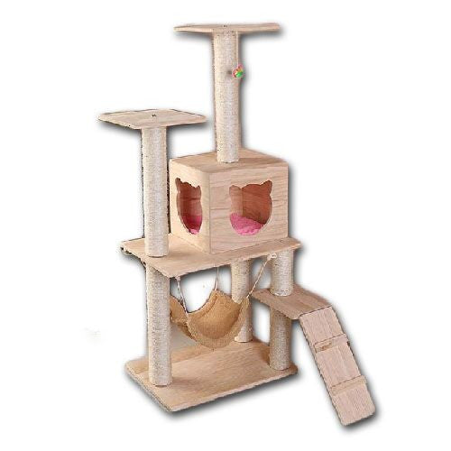 Wooden Cat Tree - Mr Fluffy
