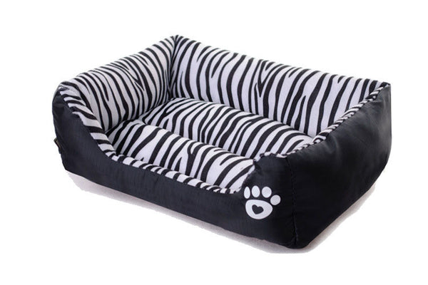 Zebra Print Pet Cushion / Pillow with Waterproof Base - Mr Fluffy Singapore Online Pet Store