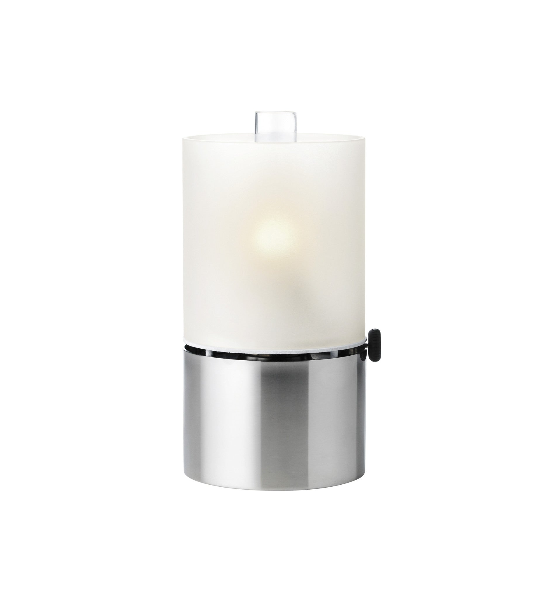 EM oil lamp, frosted glass shade