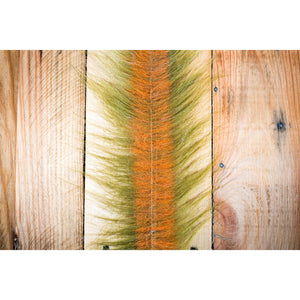 "EP Craft Fur Brush 3"" - Medium Olive & Orange"