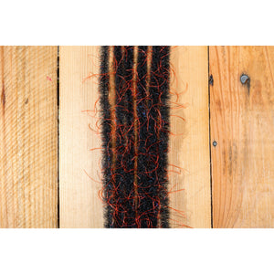 "EP Wooly Critter Brush .5"" - Black & Red"