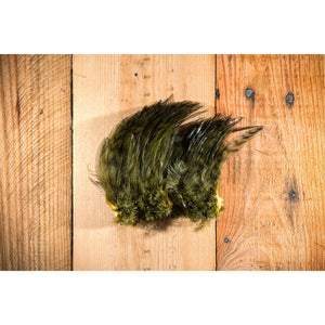 Barred Strung Neck Hackle - Olive