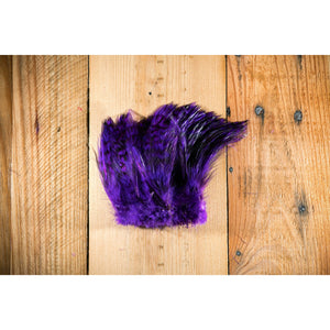 Barred Strung Neck Hackle - Purple