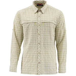 Simms Stone Cold Shirt-Khaki Plaid