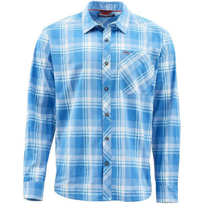 Simms Outpost Fishing Shirt-Pacific Plaid