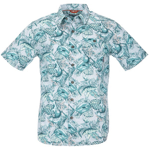 Simms M's Tailout SS Shirt - Slamdown Steel Blue