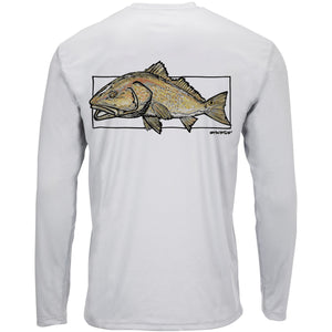 Simms M's Solar Tech Tee LS - Redfish Sterling