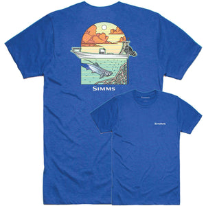 Simms Underwood Ocean T-Shirt-Royal Heather