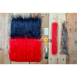 EJ's Spring Break Minnow DIY Kit - Black & Red