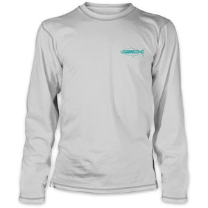 Rep Your Water - Saltwater Fish Spine Ultra Light Sun Shirt - Lt Gray