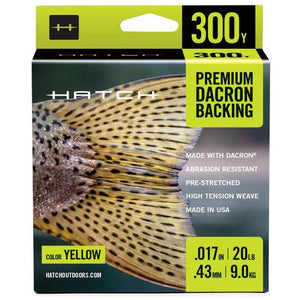 Hatch Premium Dacron Backing