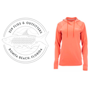 239 Flies X Simms Solarflex W's Hoody - Smoked Salmon Heather