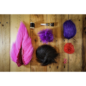 Deer Hair Megalolipop DIY Kit - Neon Grape