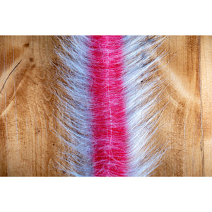"EP Craft Fur Brush 3"" - White & Red"