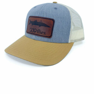 239 Leather Patch Snook Trucker