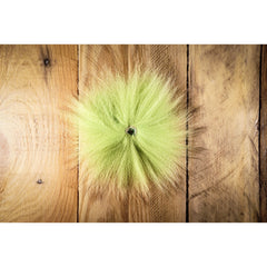 Arctic Fox Tail Hair - Chartreuse