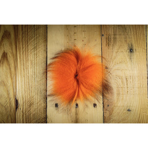 Arctic Fox Tail Hair - Hot Orange