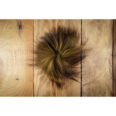 Arctic Fox Tail Hair - Olive