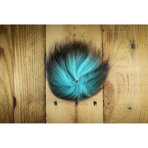 Arctic Fox Tail Hair - Kingfisher Blue
