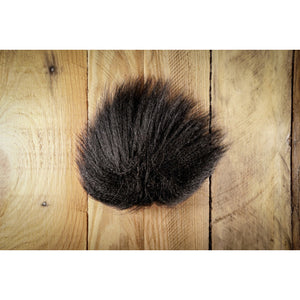 Arctic Fox Tail Hair - Black