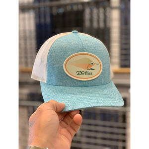239 Lightsaber Patch Hat - Heather Teal & White
