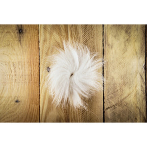 Arctic Fox Tail Hair - White