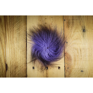 Arctic Fox Tail Hair - Purple