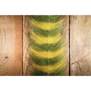 "EP Sommerlatte's Grizzley Foxy Brush 3"" - Olive & Yellow"