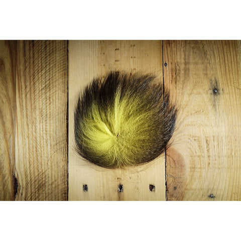 Arctic Fox Tail Hair - Yellow