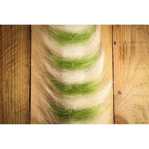 "EP Sommerlatte's Grizzley Foxy Brush 3"" - Chartreuse & White"