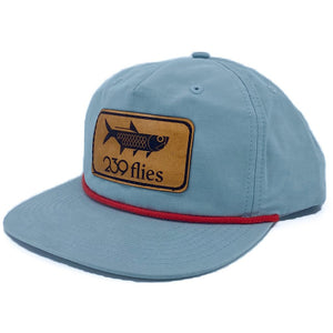 239 Pablo Escobarred Hackle Leather Patch Hat - Tarpon