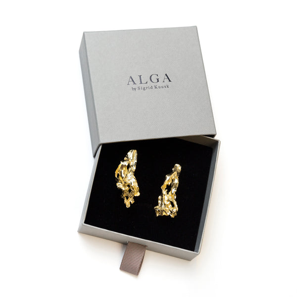 Earrings ALGA 35 mm gold plated with rose gold