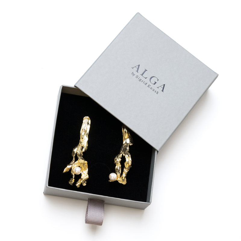 Earrings ALGA with pearls