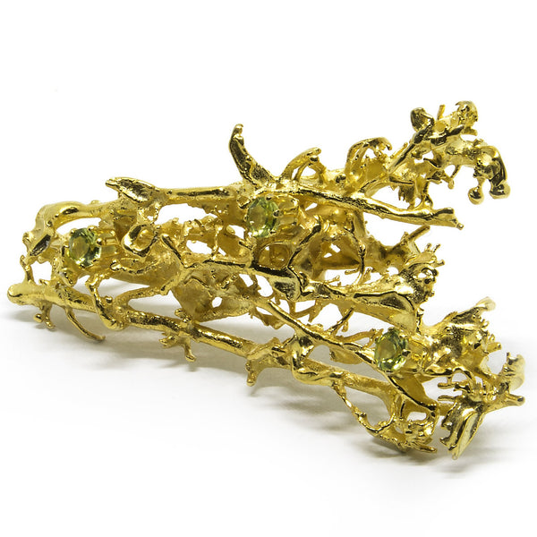 "Brooch ""MOSSI"" with Peridots - Ehestu's Special Edition"