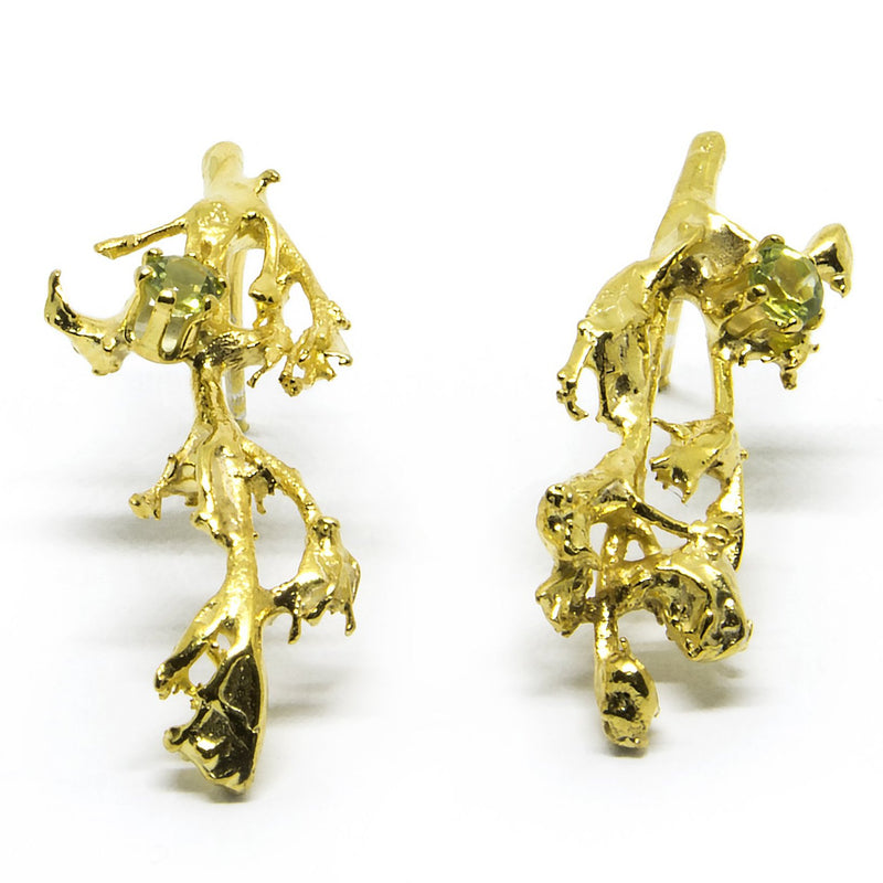 "Earrings ""MOSSI"" with Peridots - Ehestu's Special Edition"