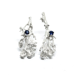 "Earrings ""MOSSI"" with Sapphires - Ehestu's Special Edition"
