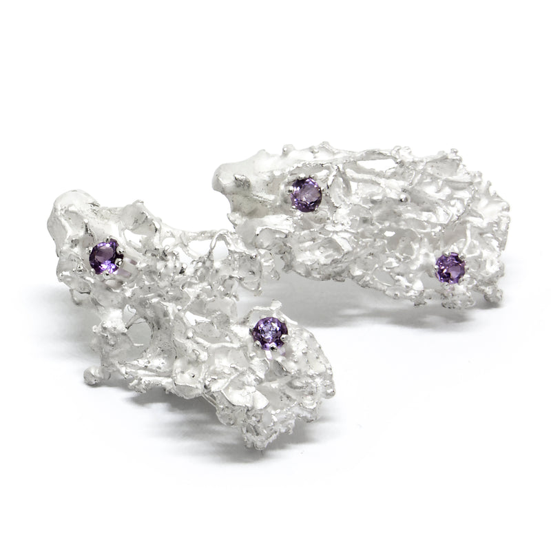 "Earrings ""MOSSI"" with Amethysts - Ehestu's Special Edition"