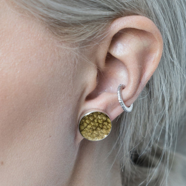 River Trout Skin Earrings