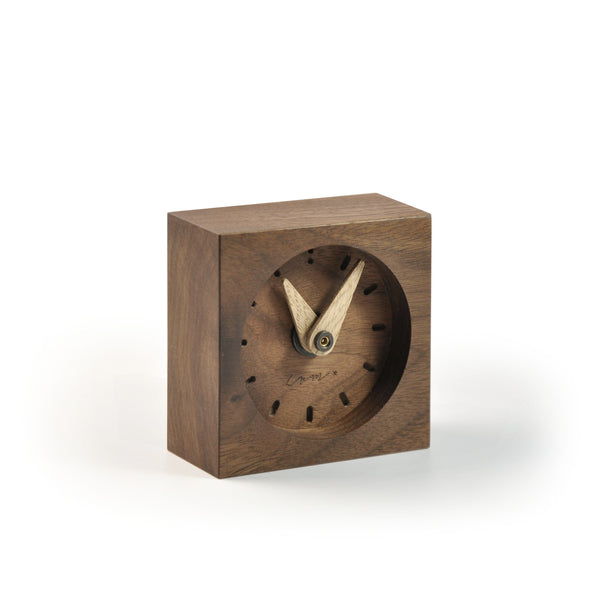 "Wooden Desk Clock ""Walnut"""