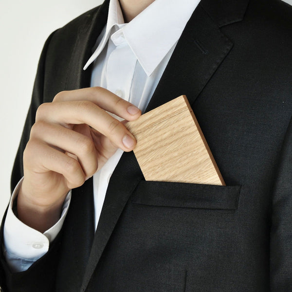 "Business Card Holder/Credit Card Holder ""Oak"""