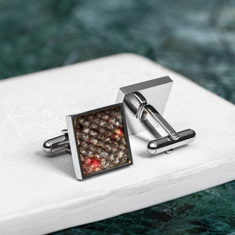 River Trout Skin Cufflinks
