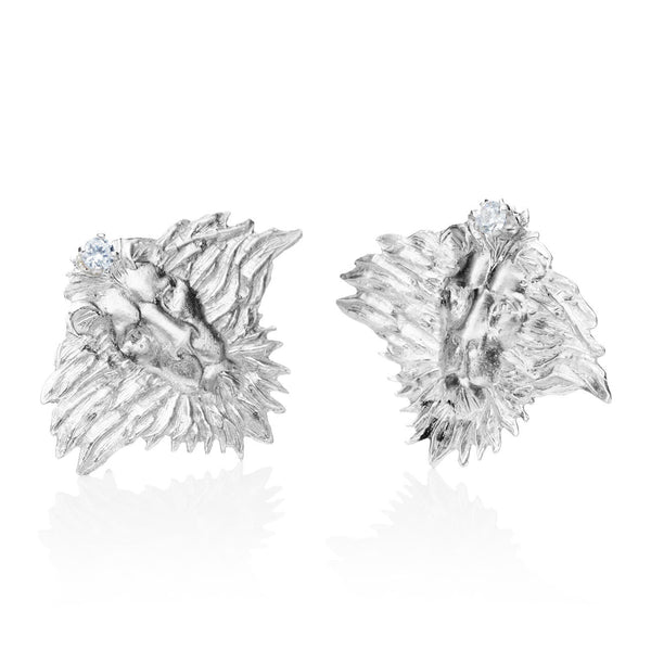 "Earrings ""Heritage"" with Cubic Zirconias"