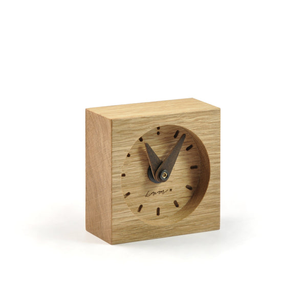 "Wooden Desk Clock ""Oak"""