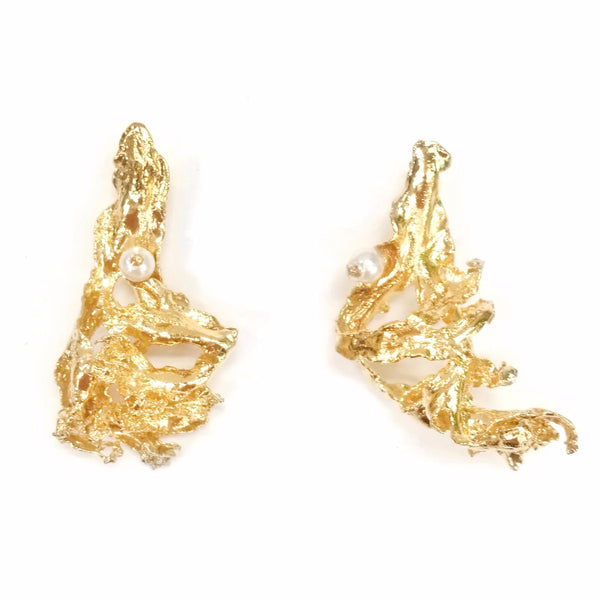 Earrings ALGA 40 MM with pearls
