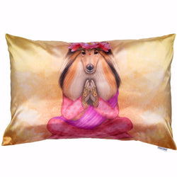 "Lucky Laika Decorative Pillow ""WHAT WE THINK, WE BECOME"""