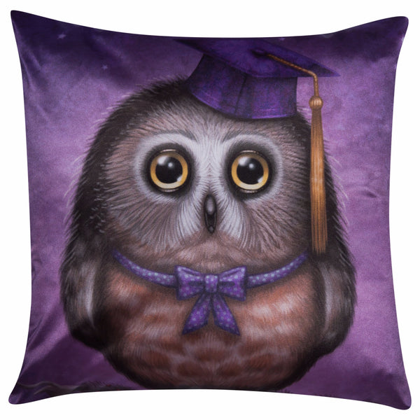 "Lucky Laika Decorative Pillow ""Wonder is beginning of wisdom"""