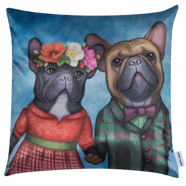 "Lucky Laika Decorative Pillow ""A life without love is like a year without summer"""