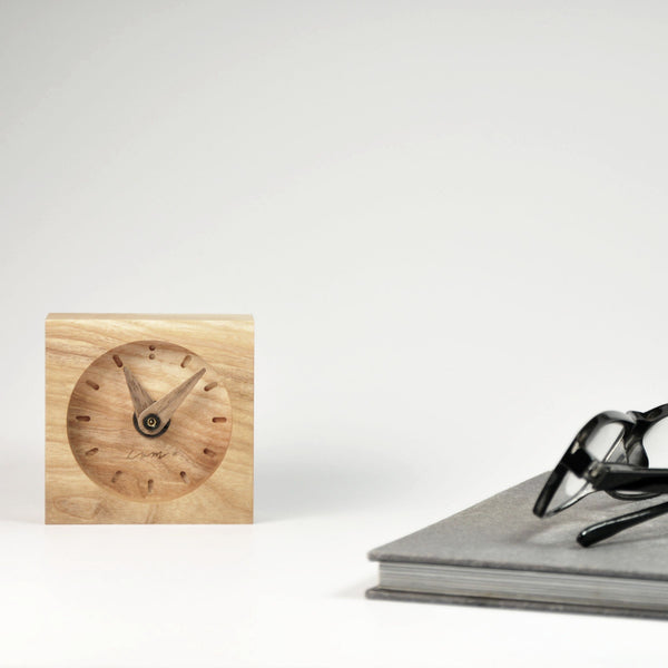 "Wooden Desk Clock ""Ash"""